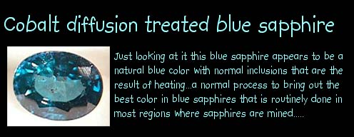 how to tell diffusion treatment of sapphires